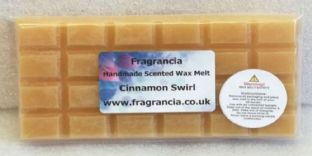 85 gram Highly Scented Wax Melt bar (CINNAMON SWIRL)